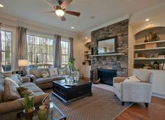 Stunning Family Room in the Mayer Designer Model at Cameron Pond