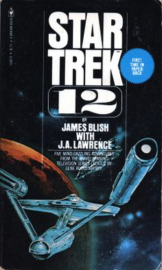In 1967 Bantam Books published the first ever Star Trek book, Star Trek , by James Blish , an anthology of TOS episode adaptations. Science Fiction Books, Pulp Fiction, Fiction Novels, Star Trek Books, Starfleet Ships, 70s Sci Fi Art, Book Cover Art, Book Covers, Comic Covers