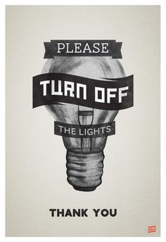 Please Turn Off the Lights on Behance