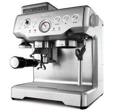 Breville programmable espresso maker with integrated burr grinder