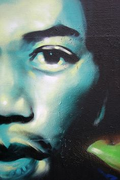 Jimmy Hendrix Mural, Haight Ashbury, San Francisco, California, USA  by Ben Ward In Hove