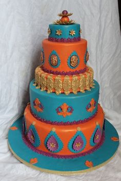 bollywood themed reception | Indian themed Birthday party for a little girl / ... | Cakes/Pops/Coo ...