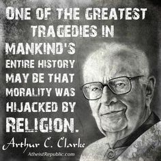 You do not need religion to have morals. Lacking in morals doesn't mean to lack religion, it means you lack empathy. Cogito Ergo Sum, Losing My Religion, Anti Religion, Famous Quotes, Best Quotes, Life Quotes, Favorite Quotes, Famous Atheists, Atheist Quotes