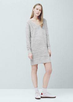 Flecked dress | MANGO