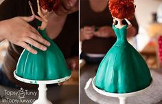 Another Disney Princess in my Doll cake collection! A full tutorial on how to create your own Merida cake for your Brave party! Cake Decorating Techniques, Cake Decorating Tutorials, Merida Cake, Little Girl Birthday, Baby Birthday, Birthday Ideas, Foto Pastel, Fondant Cake Tutorial, Sculpted Cakes