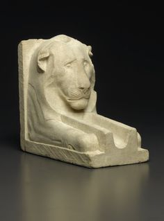 Waterspout in the Shape of a Lion - Medium: Limestone Place Made: Egypt Dates: 664-30 B.C.E. Dynasty: Dynasty 26 or later Period: Late Period to Ptolemaic Period | Brooklyn Museum