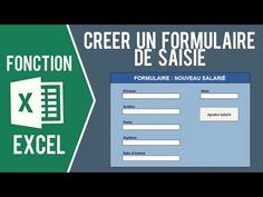 EXCEL - CRÉER UN FORMULAIRE DE SAISIE SANS USERFORM - YouTube Microsoft Excel, Autocad, Multimedia, Coding, Internet, Technology, Words, Business, Playstation