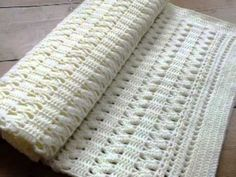 Learn how to crochet a Simple Texture Blanket. The stitches are super easy and the pattern is easy to follow along. Get the free instructions at http://www.y...