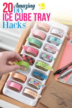 20 Amazing DIY Ice Cube Tray Hacks is part of home Hacks Ice Cubes - We've collected all the best ways to use ice cube trays to make your life easier From kids toys to home organization, they're more useful than you think! Ice Cube Trays, Ice Tray, Ice Cubes, Salon Simple, Kitchen Design Open, Ice Ice Baby, Baking And Pastry, Healthy Snacks For Kids, Hacks Diy