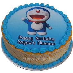 Order Doraemon birthday cake from YummyCake. We deliver in Delhi, Noida, Gurgaon & Faridabad. Order now & get the cake delivered in 2 hrs. Cartoon Birthday Cake, Birthday Cake For Cat, Dinosaur Birthday Cakes, Happy Birthday Cakes, Birthday Wishes, Crazy Cakes, Birthday Cakes Delivered, Happy Birthday Chocolate Cake, Cake Designs For Kids