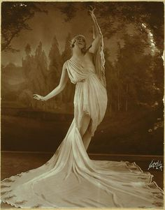 Ruth St Denis in The Greek Veil Plastique. Used in vaudevil..., via Flickr.