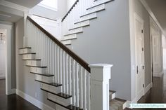 Many finishes in this house are exactly what I would want if I could build my own house: white, marble, dark hardwoods, and craftsman-eque architectural features. Erin at Sunny Side Up blog