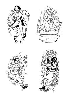 ディスカヴァー21『世代別ビジネス名著フェア』イラストを描かせていただきました。 People Illustration, Illustration Sketches, Illustrations And Posters, Character Illustration, Graphic Design Illustration, Drawing Sketches, Amazing Drawings, Love Drawings, Cartoon Faces