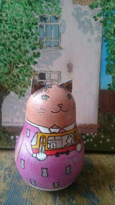 A cat with a tram
