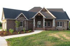 Brick Ranch House Plans, Brick Ranch Houses, Basement House Plans, Craftsman House Plans, Rustic Brick House Exterior, Ranch House Exteriors, Rustic Home Exteriors, Craftsman Style Houses, Ranch Style Floor Plans