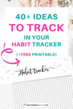 Want to get more ideas for you daily habit tracker? Check out the post with over 40 things you can choose from to track plus a cute printable habit tracker Self Development, Personal Development, Printable Planner, Free Printables, Tracker Free, Planner Sheets, Stress Relief Tips, Goal Planning, Happy Planner