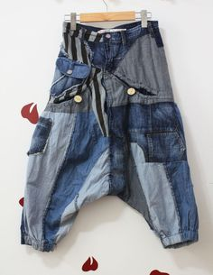 Novelty ! desigual hiphop style harem pants jeans $40.00