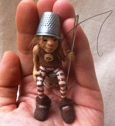 OOAK miniature art doll9reserved by feythcrafts on Etsy, $55.00