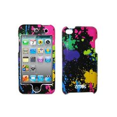 Amazon.com: EMPIRE Paint Splatter Design Snap-On Cover Case for Apple iPod Touch 4 / 4th Generation: Cell Phones & Accessories