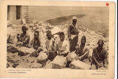 Sephardic Jews cutting stone in Jerusalem. Date Unknown.