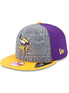 New Era Vikings 9fifty 2014 Draft Snapback Hat  1ee2923dd
