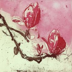 Magnolia III by Marta Wakula-Mac; Etching, Printmaking