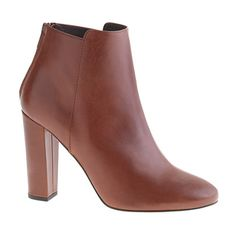 Rory Ankle Boots, $328 at J.Crew. Add this to your work outfit rotation; it would look fantastic peeking out of gray trousers or with a jewel-toned midi-skirt.