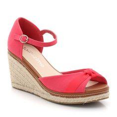 Sandales compensées en toile, Taillissime 35€