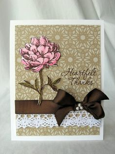 Dot and Tea Flower Card