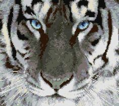 Cross Stitch | White Tiger xstitch Chart | Design
