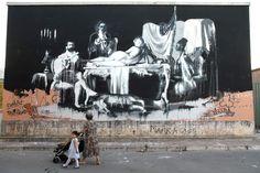 Connor Harrington >>> The Irish graffiti artist paints outdoor murals worldwide to considerable acclaim.