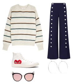 """""""Flip flop outfit"""" by lieske-hogeland ❤ liked on Polyvore featuring Étoile Isabel Marant, Tory Burch, Play Comme des Garçons, Catbird and Stephane + Christian"""