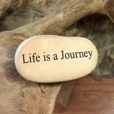 Engraved  Beach Pebble Message Stone - Life is Journey