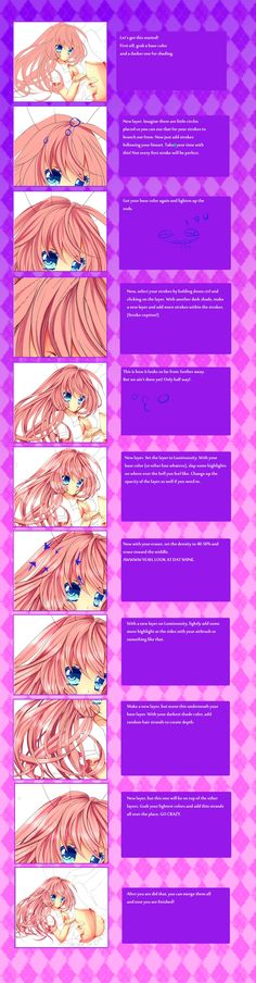 Sai Tutorial: Coloring Hair by CaptainStrawberry.deviantart.com on @DeviantArt