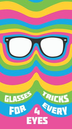 A few tips and tricks for people who wear glasses.Even a website for cheaper frames/lenses!