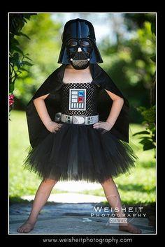 El lado oscuro de Darth Vader inspiró el vestidode tutú con anexa del Cabo - 4-6t grande