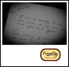 #HandwrittenNotes #Weddings #Photography #Milwaukee #CreamCityPhotoVideo