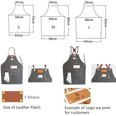 Gray Canvas Apron Crossback Leather Straps - Little Tailor Studio Gray Canvas Apron Crossback Leather Straps - Little Tailor Studio Child Apron Pattern, Apron Pattern Free, Barber Apron, Shop Apron, Apron Designs, Leather Apron, Sewing Aprons, Kids Apron, Sewing Tips