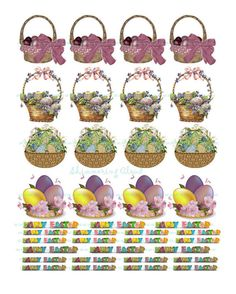 Gift tags cutout eggs Easter basket quote words by ShimmeringCloud, $2.00