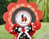 Ladybug Centerpiece, Deluxe Birthday Centerpiece. $13.00, via Etsy.