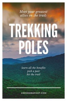 All the WHYs and HOWs of TREKKING POLES: benefits, best uses, adjustments, downsides, and tips to make you into a hiking goddess :) Outdoor Travel, Outdoor Gear, Trekking, Hiking Tips, Hiking Gear Women, Backpacking Tips, Running Tips, Trail Running, Waterfall Trail