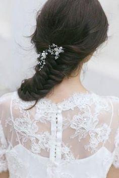Wedding Hair Pins, Bridal Hair Pins, Wedding Hair Accessories,  Pearl Hair  Pins, Ivory Pearl Hair Pins ,Petite Floral  Pins
