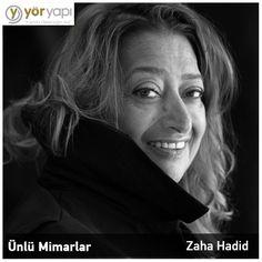 #ÜnlüMimarlar   2016 yılı içerisinde kaybettiğimiz Zaha Hadid, Pritzker Mimarlık ödülünü kazanan ilk kadın mimardır.
