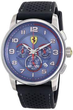 Ferrari Men's 830062 Analog Display Japanese Quartz Black Watch. For product info go to:  https://www.caraccessoriesonlinemarket.com/ferrari-mens-830062-analog-display-japanese-quartz-black-watch/