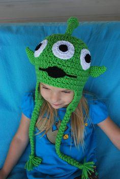 Green Alien Crochet Character Hat  ON SALE by SweetSomethingsbyAsh, $20.00