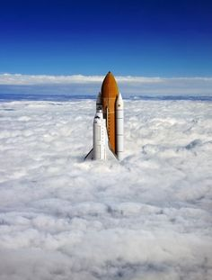 Epic picture of the space shuttle