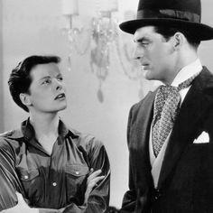 """Katharine Hepburn y Cary Grant en """"La Gran Aventura de Silvia"""" (Sylvia Scarlett), 1935"""