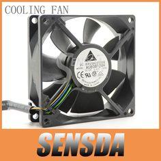 Free Shipping Delta AUB0812VH 8CM 80MM 8025 8*8*2.5CM 80*80*25MM 12V 0.41A support 4-wire Pwm Tempreture control fan