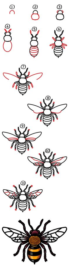 -How To Draw A Realistic Bee – Art For Kids Hub – It's Monday, and it's time for another week of art! Today we're learning how to draw a realistic bee. Grab those markers. Art For Kids Hub, Bee Art, Bee Crafts, Tatoo Art, Tattoo Life, Realistic Drawings, Learn To Draw, What To Draw, Drawing Sketches
