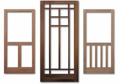 wooden screen doors   These are just a few of the wood screen and storm doors available from ...